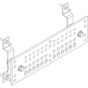 "Wireless Solutions - 1/4x4x14"" Ground Buss Bar"